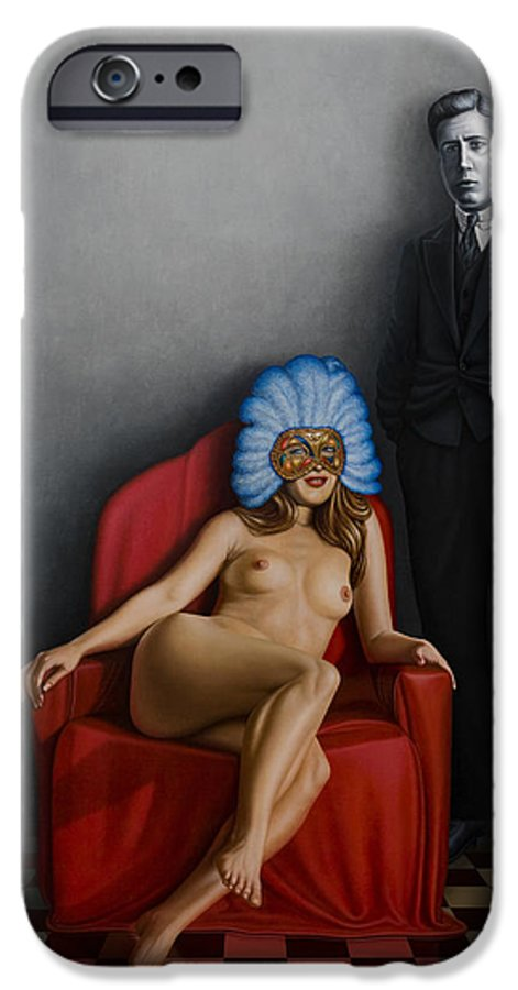 Nude IPhone 6 Case featuring the painting Beauty Of The Carnival by Horacio Cardozo