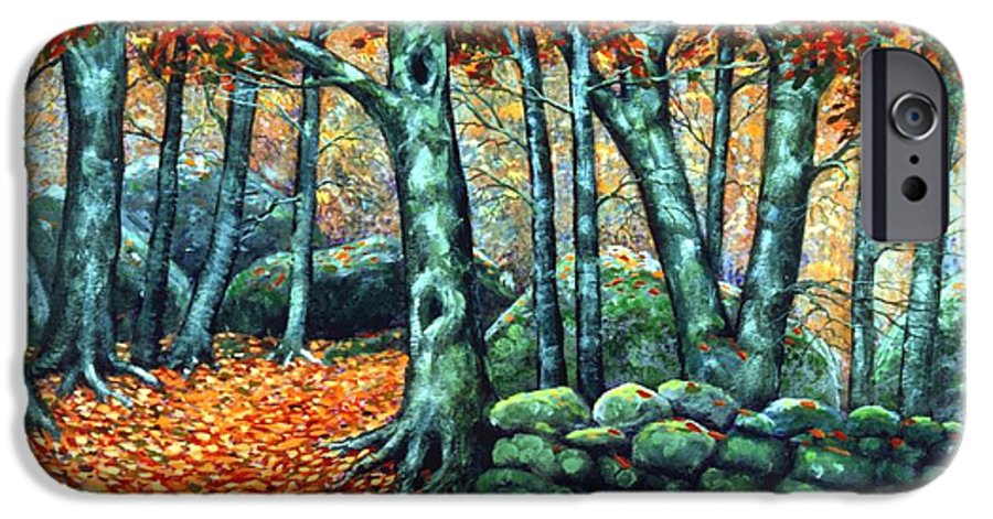 Landscape IPhone 6 Case featuring the painting Beech Woods by Frank Wilson