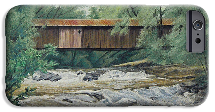 Landscape IPhone 6 Case featuring the painting Before The Fire by Peter Muzyka