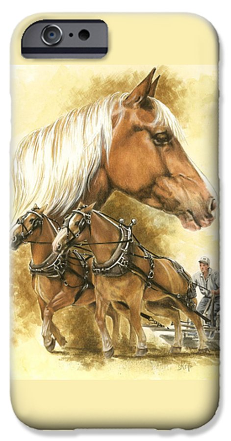 Equus IPhone 6 Case featuring the mixed media Belgian by Barbara Keith