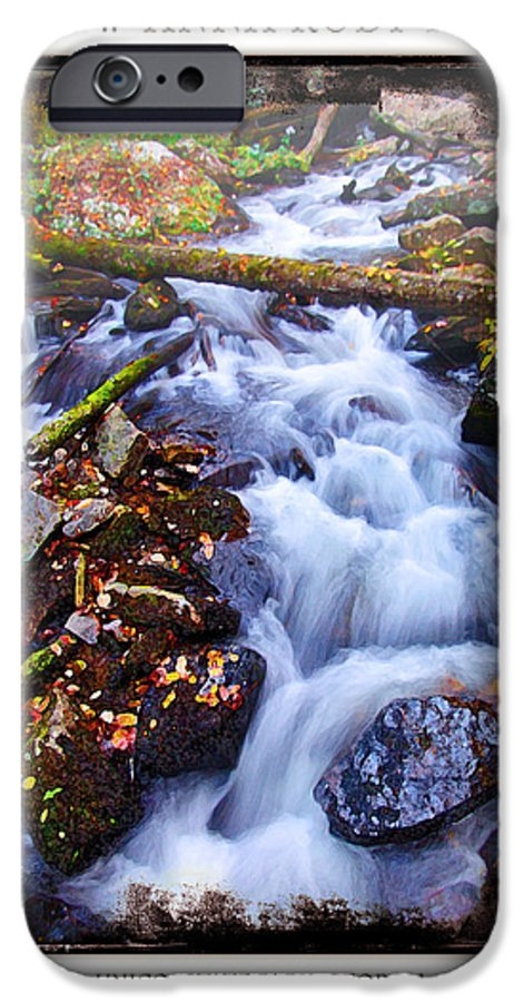 Landscape IPhone 6 Case featuring the photograph Below Anna Ruby Falls by Peter Muzyka