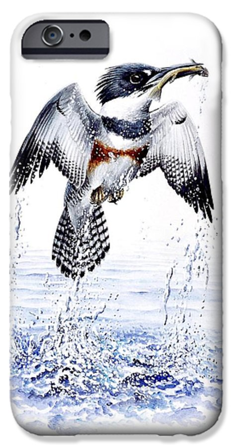 Chris Cox IPhone 6 Case featuring the painting Belted Kingfisher by Christopher Cox