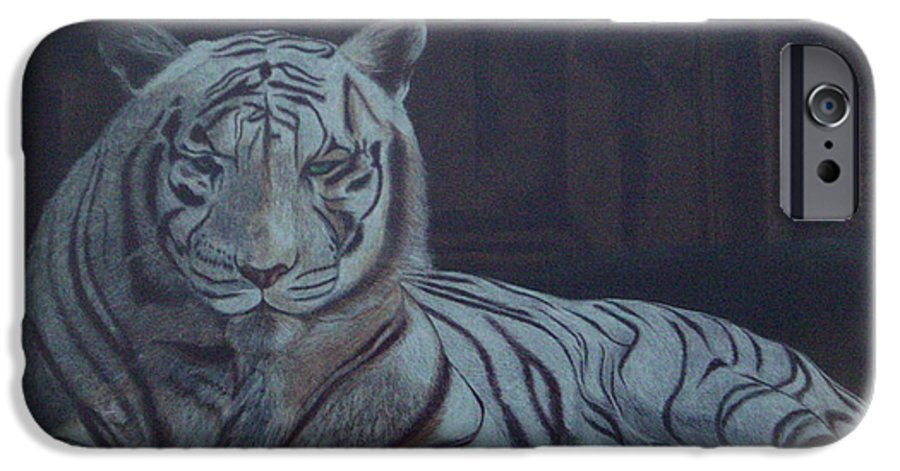 Wild Live IPhone 6 Case featuring the painting Bengala Tiger by Fanny Diaz