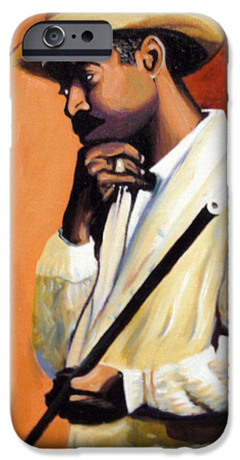 Cuban Art IPhone 6 Case featuring the painting Benny 2 by Jose Manuel Abraham