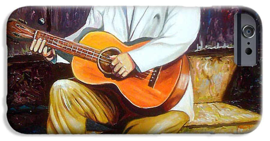 Cuban Art IPhone 6 Case featuring the painting Benny by Jose Manuel Abraham