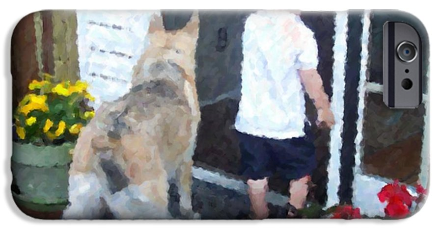 Dogs IPhone 6 Case featuring the photograph Best Friends by Debbi Granruth