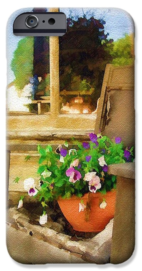 Pansies IPhone 6 Case featuring the photograph Best Seat In The House by Sandy MacGowan