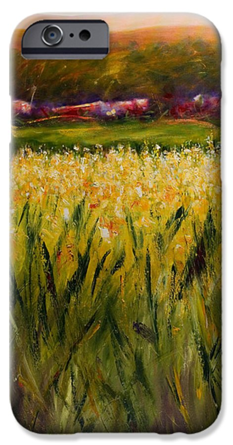 Landscape IPhone 6 Case featuring the painting Beyond The Valley by Shannon Grissom