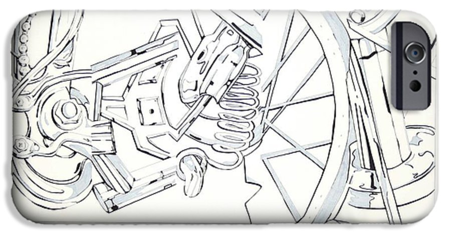Bicycle IPhone 6 Case featuring the drawing Bicycle by Maryn Crawford