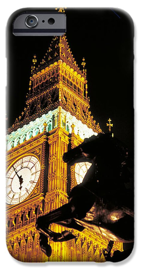 Clock IPhone 6 Case featuring the photograph Big Ben In London by Carl Purcell