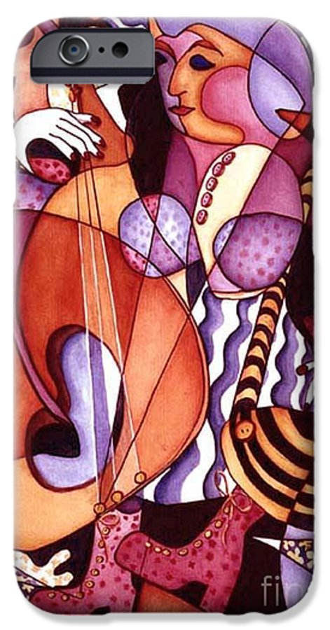 Whimsical IPhone 6 Case featuring the painting Big Bertha by Arleen Barton