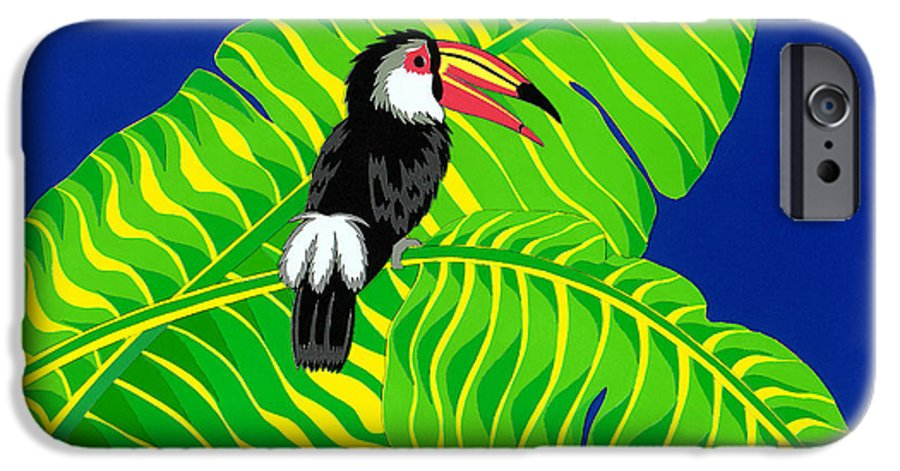 Nature IPhone 6 Case featuring the drawing Big Billed Bird by Lucyna A M Green