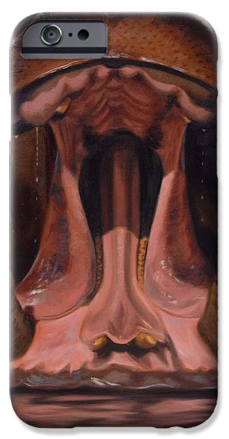 Painting IPhone 6 Case featuring the painting Big Mouth by Greg Neal