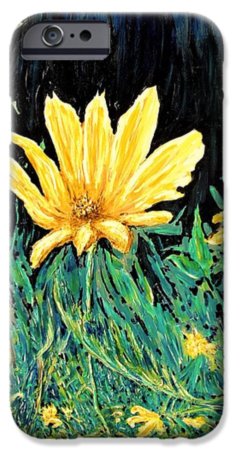 Flower IPhone 6 Case featuring the painting Big Yellow by Ian MacDonald