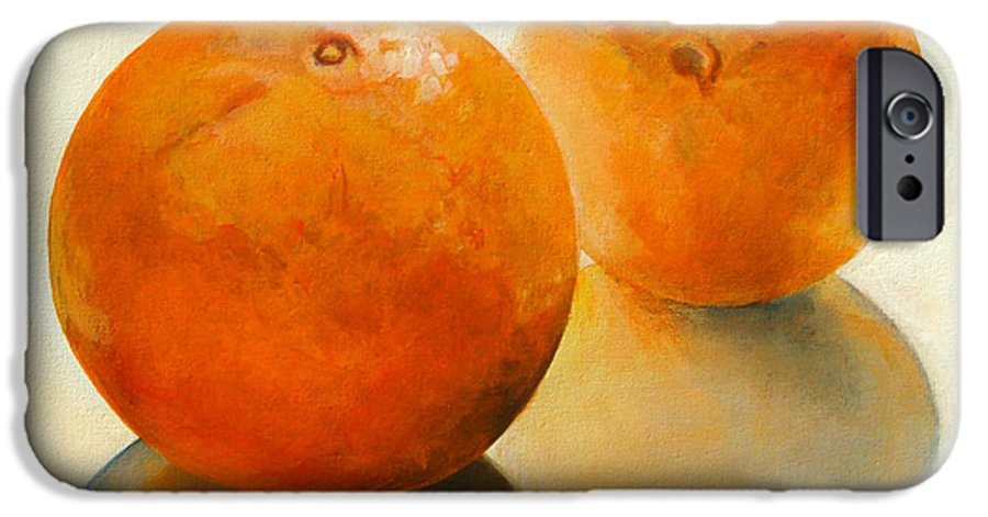 Still Life IPhone 6 Case featuring the painting Billes Oranges by Muriel Dolemieux