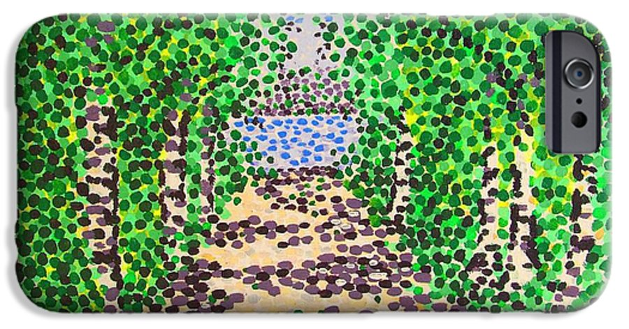 Path IPhone 6 Case featuring the painting Birch Path by Alan Hogan
