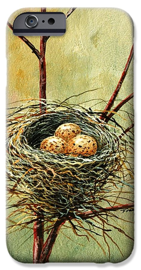 Still Life IPhone 6 Case featuring the painting Bird Nest by Frank Wilson
