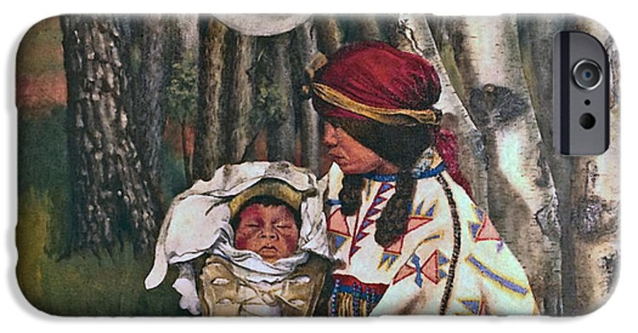 Native American IPhone 6 Case featuring the painting Birth Spirit by Peter Muzyka