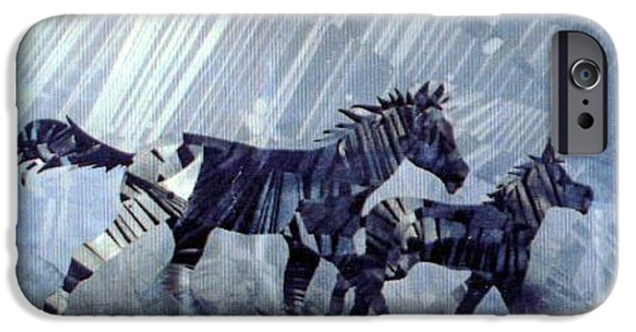 Wildlife IPhone 6 Case featuring the painting Black And White Nineteen Fifty Six by Rick Silas