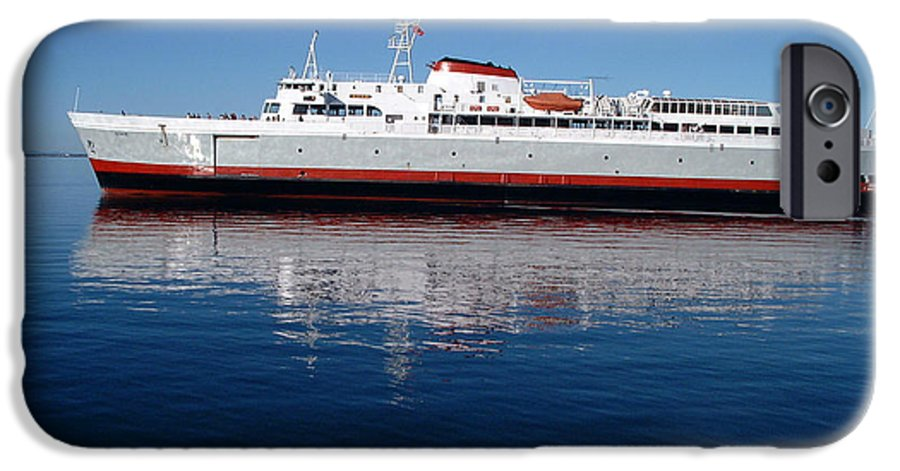Boat IPhone 6 Case featuring the photograph Black Ball Ferry by Larry Keahey