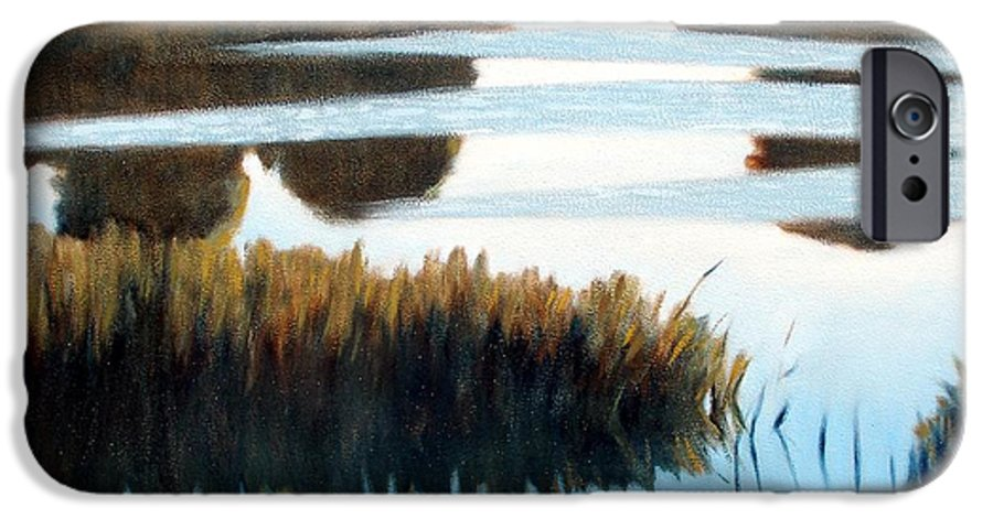 Water IPhone 6 Case featuring the painting Black Bayou by Kevin Lawrence Leveque