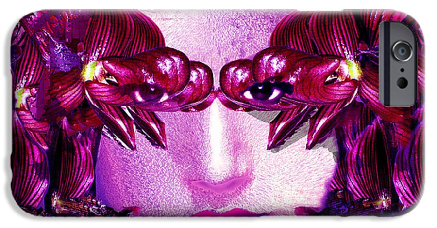 Oriental IPhone 6 Case featuring the digital art Black Orchid Eyes by Seth Weaver