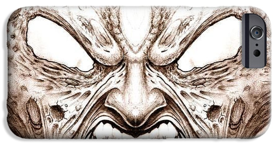 Anger IPhone 6 Case featuring the drawing Blind Fury by Will Le Beouf