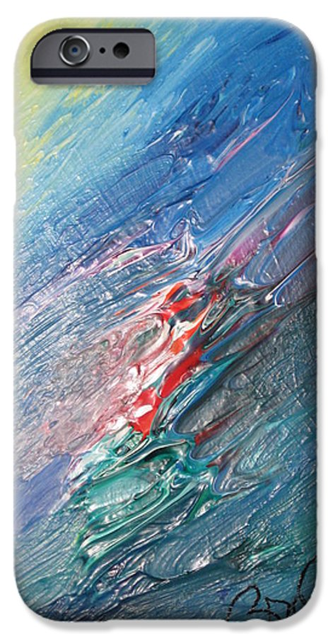 Abstract IPhone 6 Case featuring the painting Bliss - F by Brenda Basham Dothage