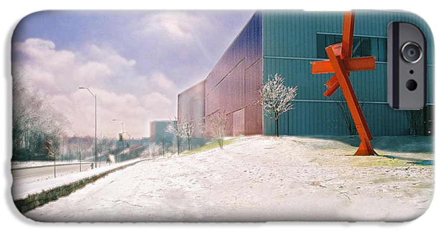 Landscape IPhone 6 Case featuring the photograph Bloch Building At The Nelson Atkins Museum by Steve Karol