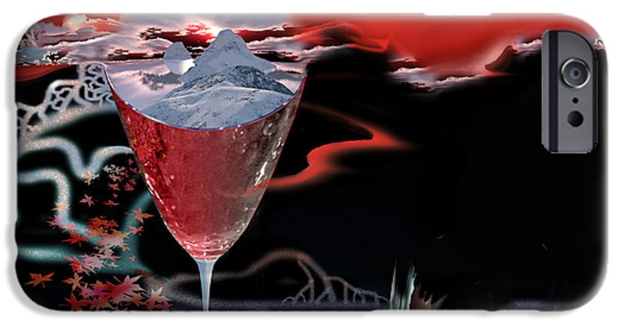 Blood IPhone 6 Case featuring the digital art Blood Red From Pure White by Jennifer Kathleen Phillips