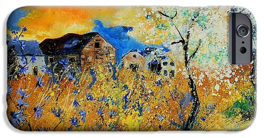 Poppies IPhone 6 Case featuring the painting Blooming Trees by Pol Ledent