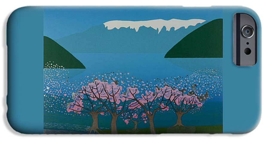 Landscape IPhone 6 Case featuring the mixed media Blossom In The Hardanger Fjord by Jarle Rosseland