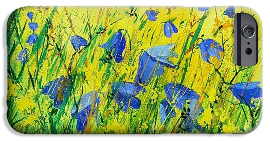 Poppies IPhone 6 Case featuring the painting Blue Bells by Pol Ledent