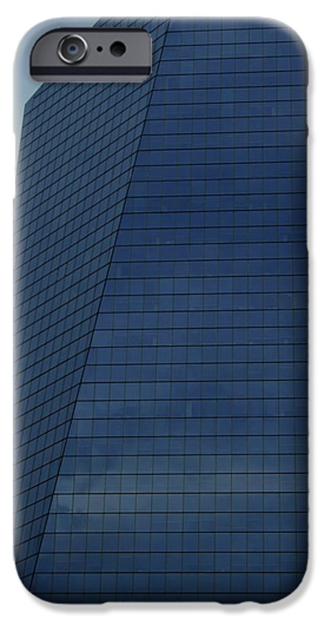 City IPhone 6 Case featuring the photograph Blue Building by Linda Sannuti