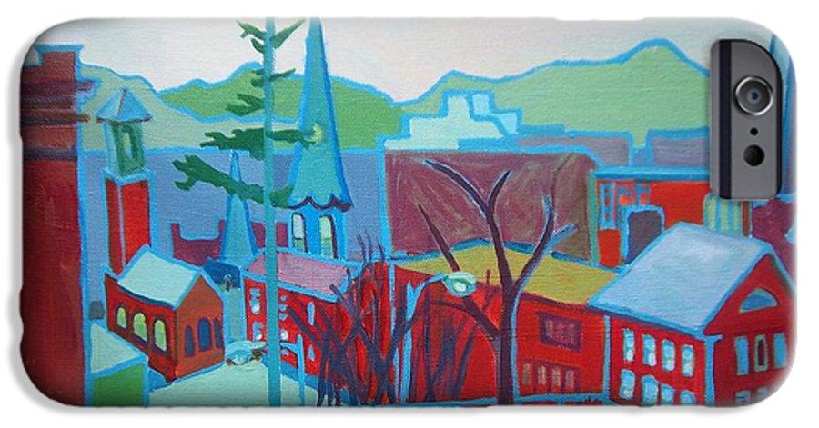Burlington IPhone 6 Case featuring the painting Blue Burlington by Debra Bretton Robinson