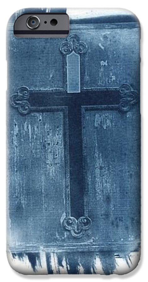 Cyanotype IPhone 6 Case featuring the photograph Blue Cross by Jane Linders