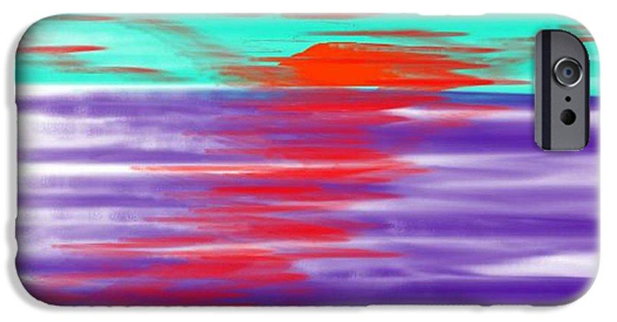 Sky.clouds.sun.sunrays.sunset.sea.water.reflection.slow Waves.deep Water.evening.rest.silence IPhone 6 Case featuring the digital art Blue Deep Evening by Dr Loifer Vladimir
