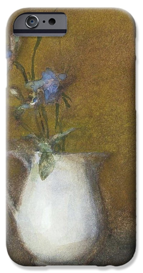 Floral Still Life IPhone 6 Case featuring the painting Blue Flower by Joan DaGradi