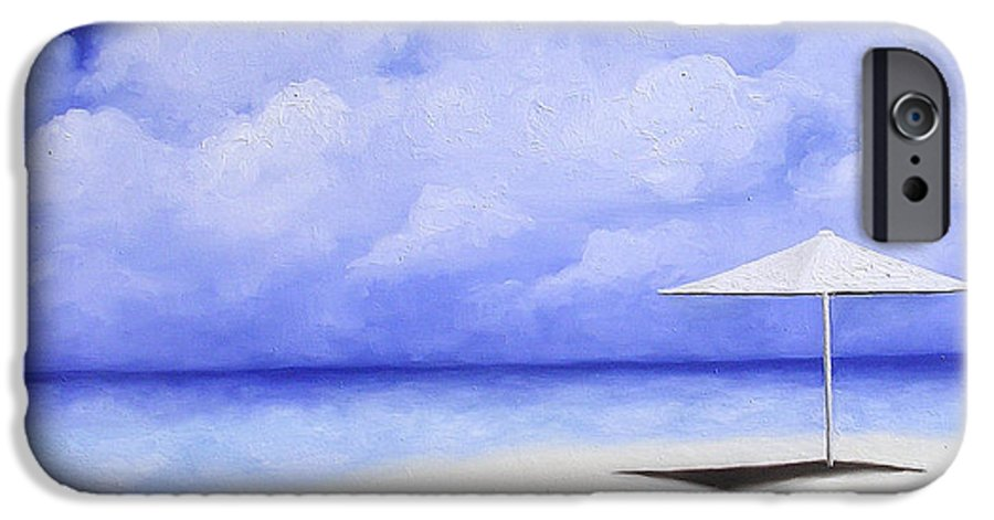 Seascape IPhone 6 Case featuring the painting Blue Isolation by Trisha Lambi