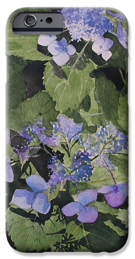 Flowers IPhone 6 Case featuring the painting Blue Lace by Jean Blackmer