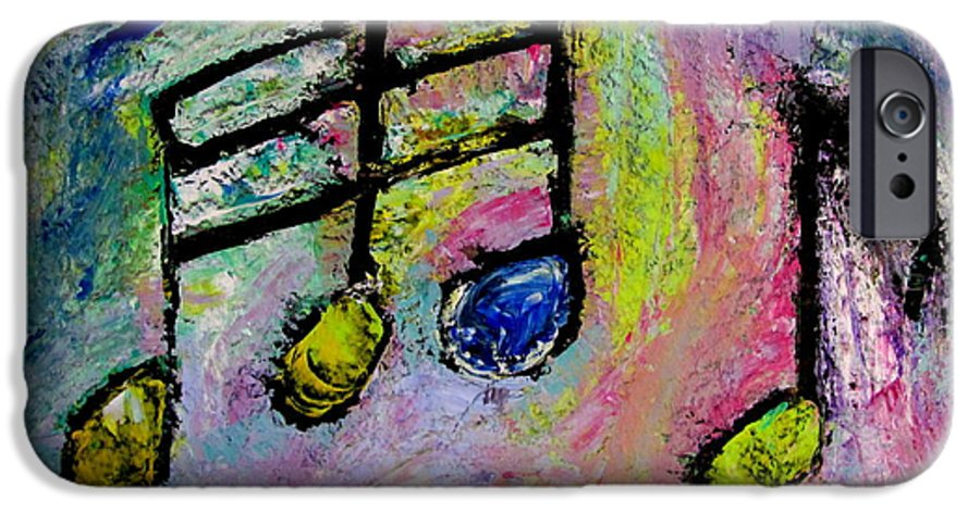 Impressionist IPhone 6 Case featuring the painting Blue Note by Anita Burgermeister