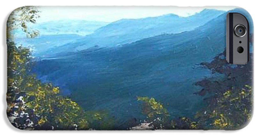 Landscape IPhone 6 Case featuring the painting Blue Ridge by Tami Booher