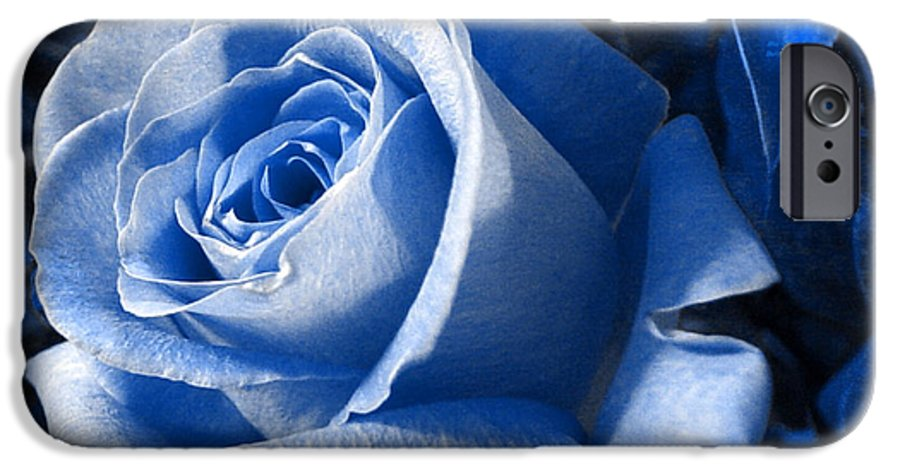 Blue IPhone 6 Case featuring the photograph Blue Rose by Shelley Jones