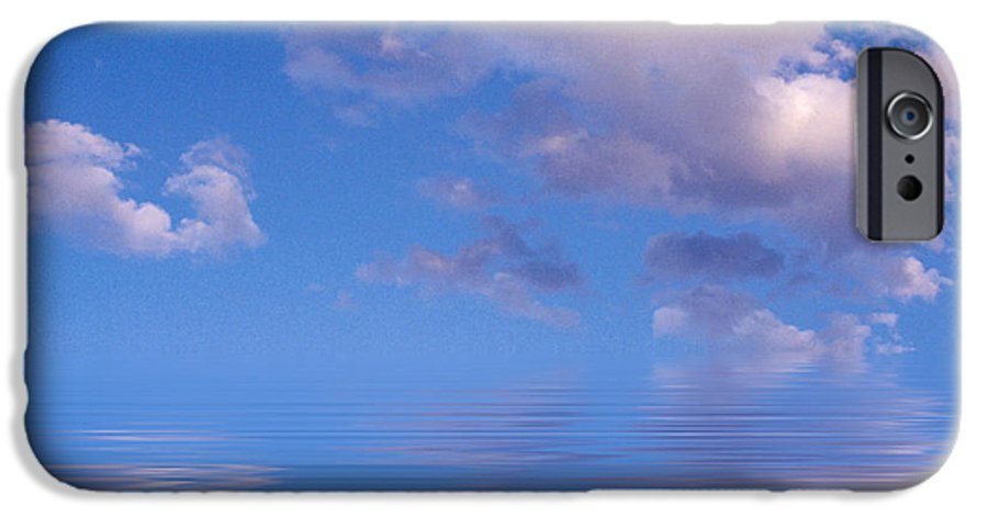 Original Art IPhone 6 Case featuring the photograph Blue Sky Reflections by Jerry McElroy