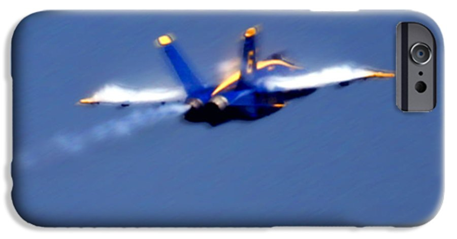 Blue Angles IPhone 6 Case featuring the photograph Blue Solo by Larry Keahey