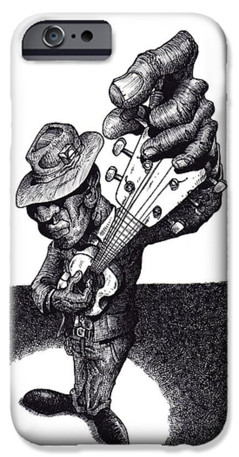 Blues IPhone 6 Case featuring the drawing Blues Guitar by Tobey Anderson