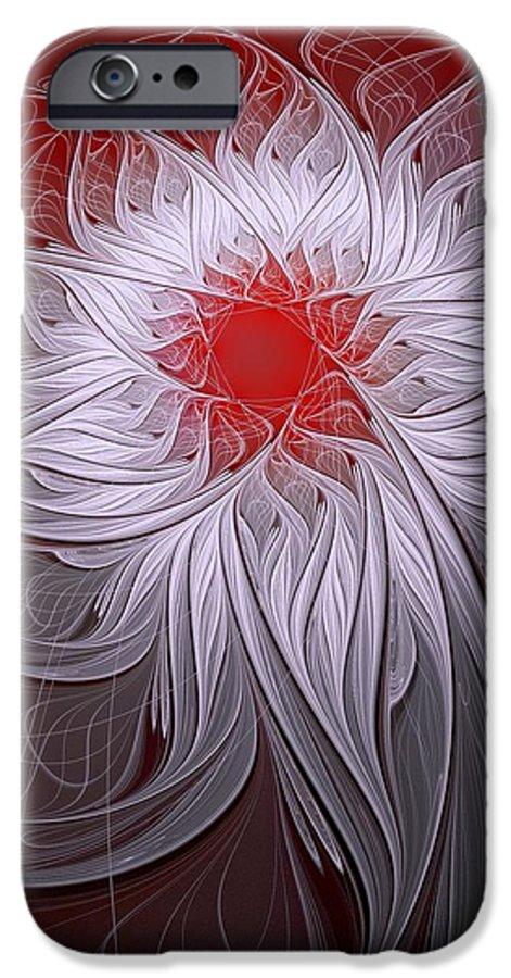 Digital Art IPhone 6 Case featuring the digital art Blush by Amanda Moore