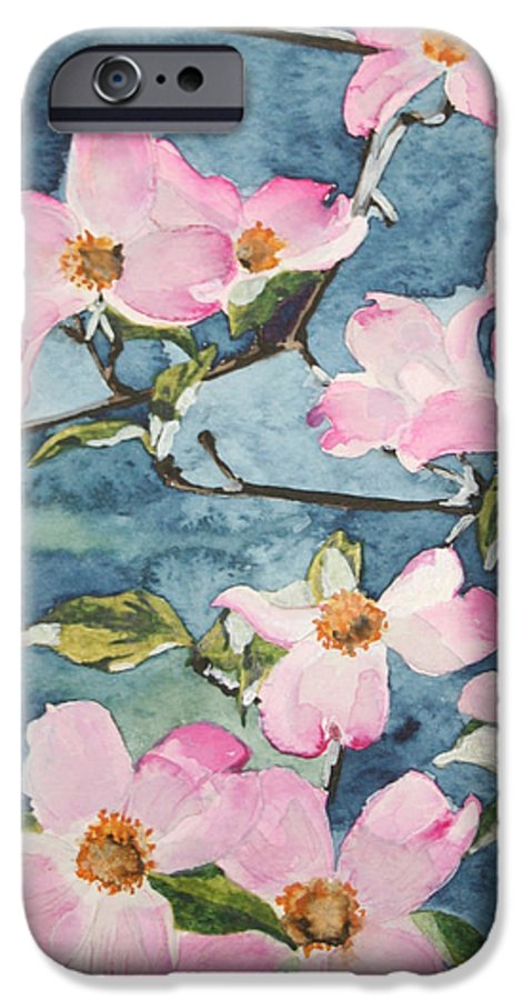 Flowers IPhone 6 Case featuring the painting Blushing Prettily by Jean Blackmer