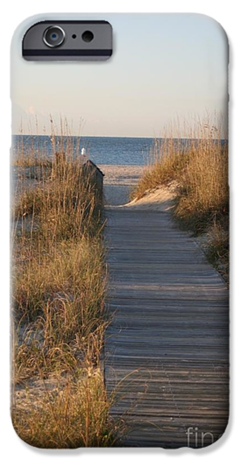 Boardwalk IPhone 6 Case featuring the photograph Boardwalk To The Beach by Nadine Rippelmeyer