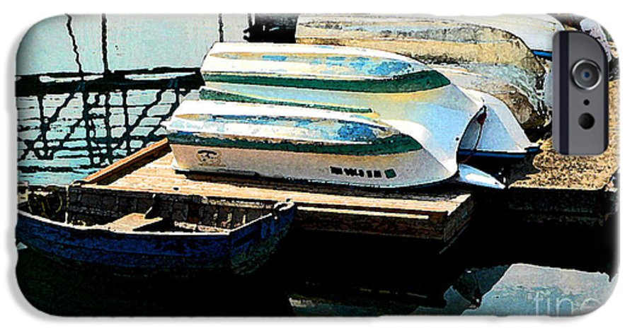 Boats IPhone 6 Case featuring the photograph Boats In Waiting by Larry Keahey